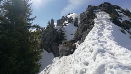 Gipfelgrat zum Grenzjäger-Denkmal