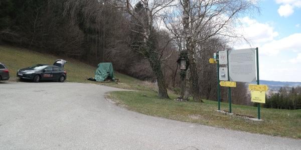 Ausgangspunkt Parkplatz unterhalb der Kirche am Georgenberg