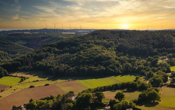 Wunderschöne Landschaft der Eifel