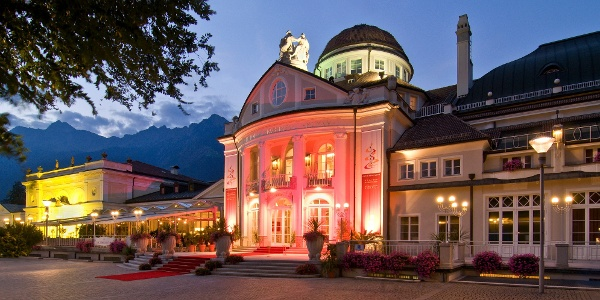 The well known Kurhaus in Merano, a masterpiece of the Jugendstil area.