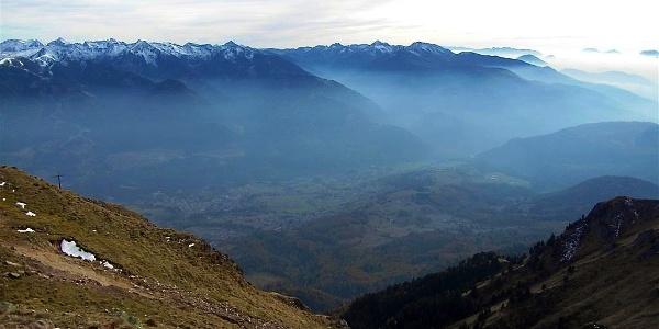 Blick vom Schwarzhorn nach Cavalese
