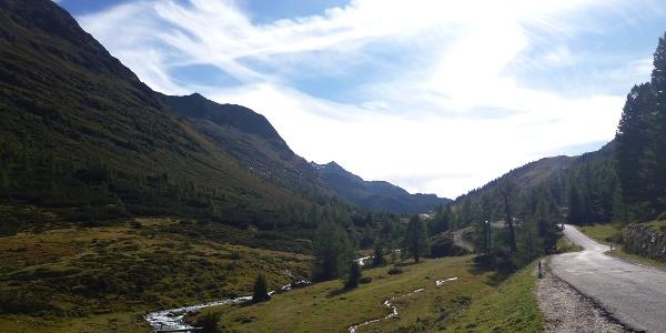 Der Weg durch die wilde und ungezähmte Wildnis zum Staller Sattel.