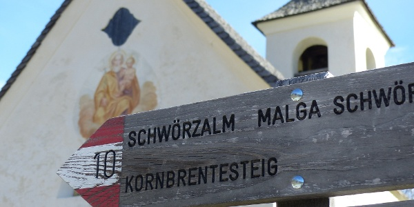Bei der St.-Josefs-Kapelle in Antholz Obertal beginnt die Tour.