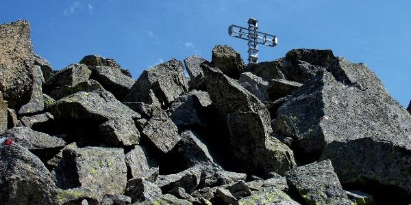 Schwierige und lange Bergtour vom Giggelberg auf den hochalpinen Gipfel des Tschigat.