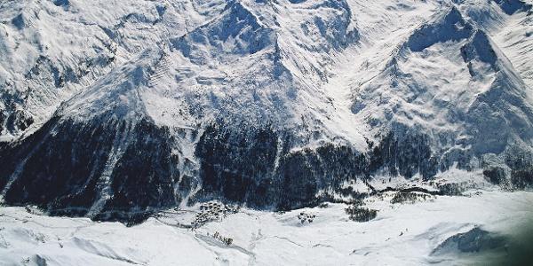 Die Faltschnalalm liegt oberhalb von Pfelders in Hinterpasseier.