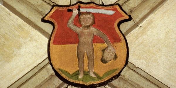 Wappen von Villanders, der Ortschaft im Eisacktal.
