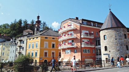 The city of Brunico is a charming place in the Pusteria valley.