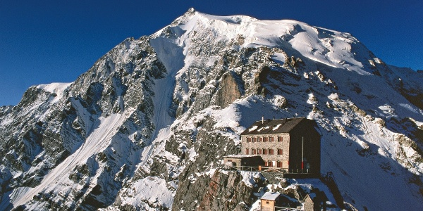 The Payer mountain hut on the route to the Ortles