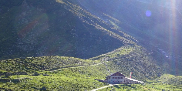 Von der Lazinser Alm weiter in Richtung Stettiner Hütte
