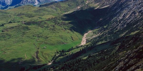 Der Touristensteig: von der Saltnerhütte zu den Schlernhäusern