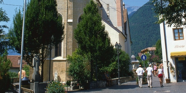 Dorf Tirol, der bekannte Ausgangspunkt der Tour