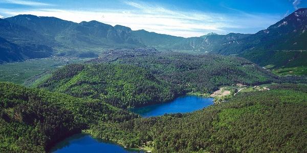 Montiggler Seen mit Blick auf das Unterland