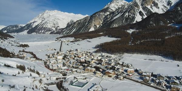 Die Rodelbahn Talai liegt bei St. Valentin am Haidersee im Vinschgauer Oberland.