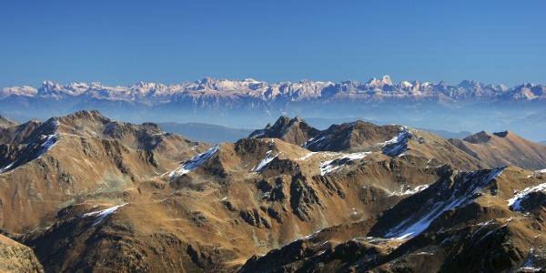 Die Gleckspitze im hinteren Ultental (Bildmitte vorne)