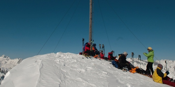 Auf dem Gipfel der 2739 m hohen Hochkreuzspitze