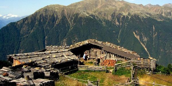 Die Moaralm unterhalb der Kirchbachspitze.