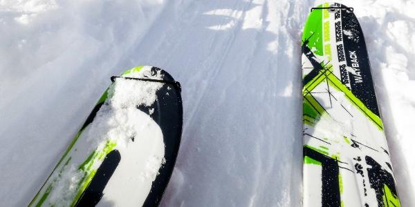 Schwierige Skitour im Martelltal auf die Schildspitze.