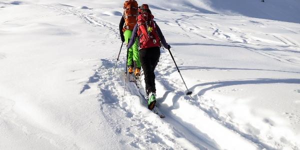 Passing the Rifuigio Passo di Vizze we reach the Croda Alta peak - just for experienced ski tourers.
