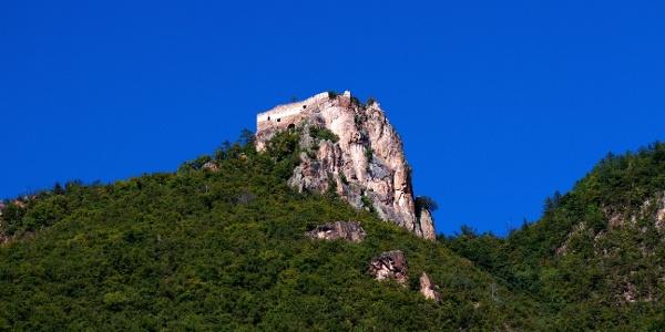 Die Schlossruine Greifenstein oberhalb von Moritzing, besser bekannt als Sauschloss, ist der Höhepunkt dieser Wanderung.