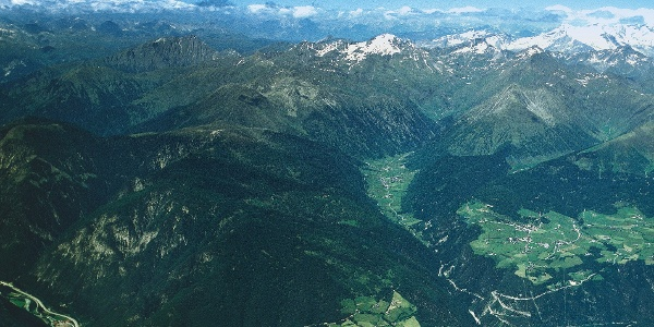 Das Valser Tal im Panorama.