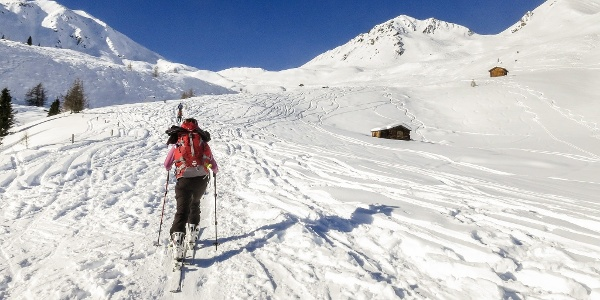 On 2000 meters you have a nice view to the monte Fellhorn mountain at the left and to the Monte Alto mountain.