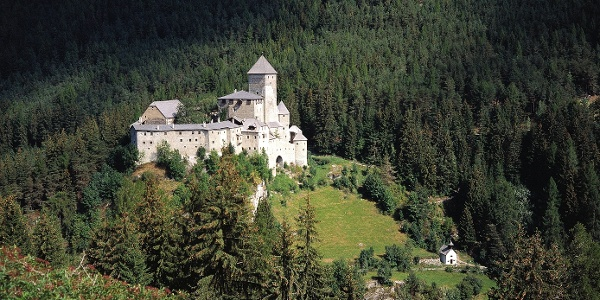 The Castel Tures is situated over the main village of Valle Aurina.