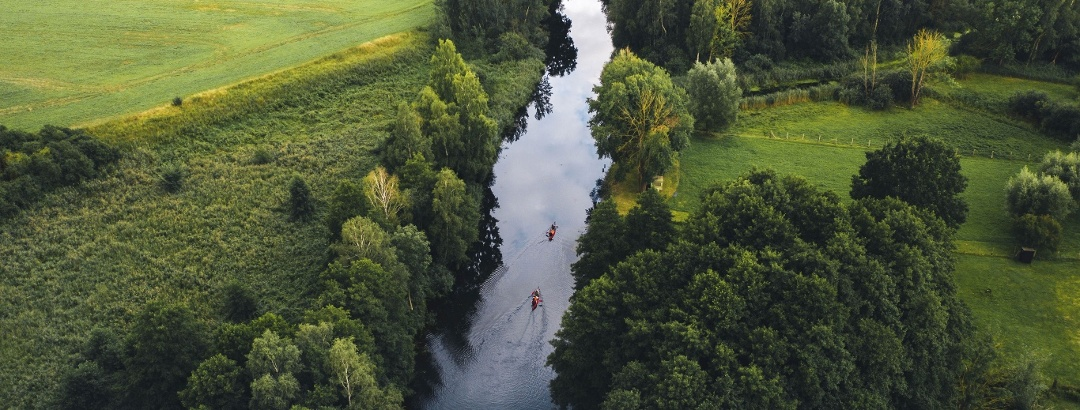 Mit dem Kanu auf der Elde