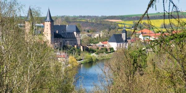 Basteiblick auf Schloss Rochlitz und Petrikirche