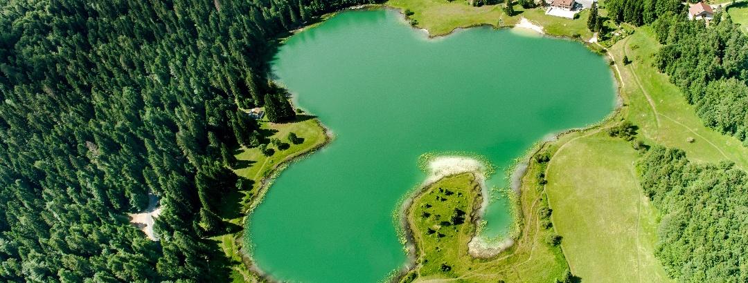 Vue aérienne du Lac Genin