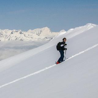 Grenzenlose, noch unberührte Skihänge