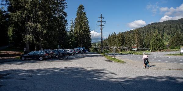 Laax Staderas, Parkplatz