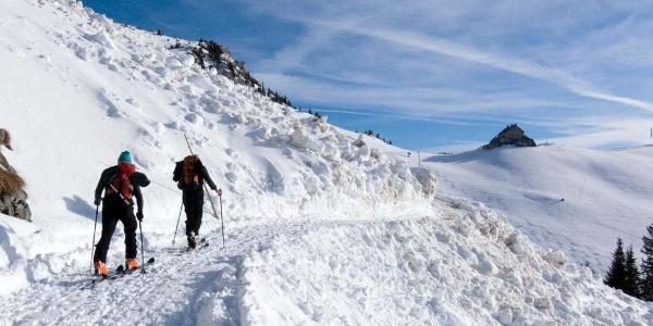 Lawinenabgang aus dem Gipfelhang der Rotwand