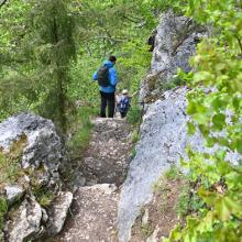 Abstieg vom Aussichtsfelsen