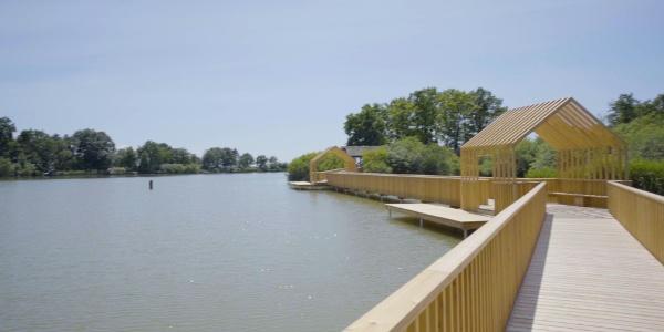 Harter Teich mit Steg