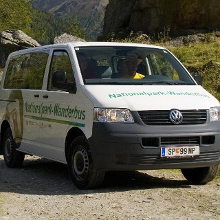 Nationalpark Wanderbus Haltestelle Gößnitzfall-Kachlmoor
