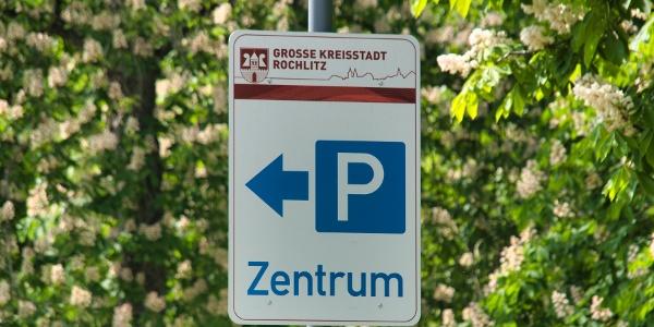 "Parkplatz Zentrum ""An der Bleiche"" Wegweisung"