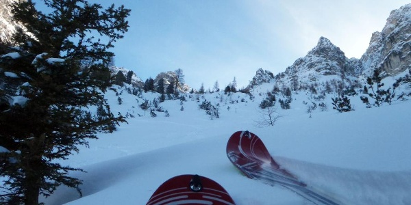Immer den Skispitzen folgen