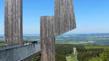Aussichtsskulptur Windklang