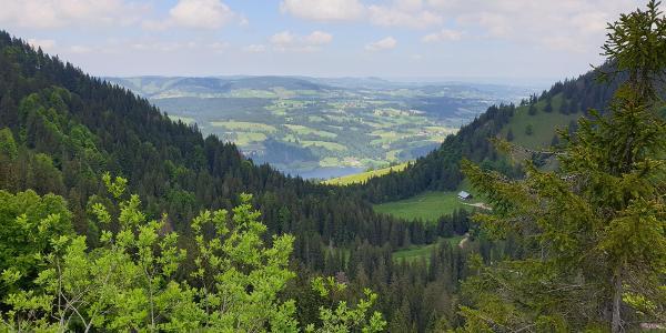 Blick vom Kemptner Naturfreundehaus auf en großen Alpsee