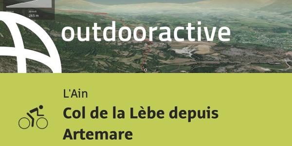 parcours vélo de route - L'Ain: Col de la Lèbe depuis Artemare