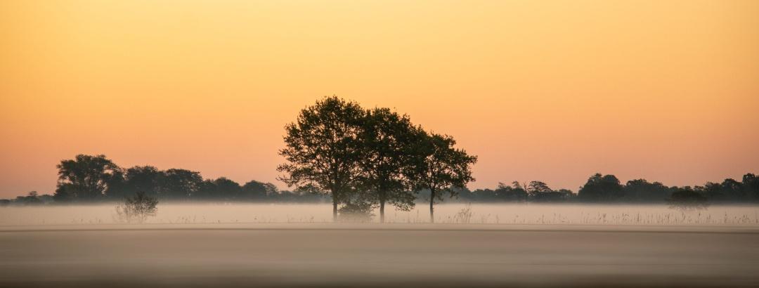 Sonnenaufgang bei einer Wanderung in Andelfingen