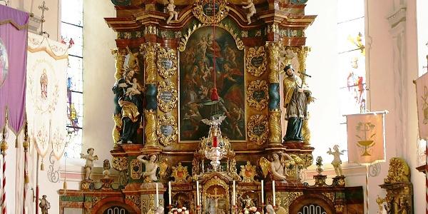 Bartholomäberg, Katholische Pfarrkirche Heiliger Bartholomäus und Friedhof 1
