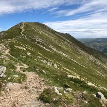 The ridge up to St Sunday Crag