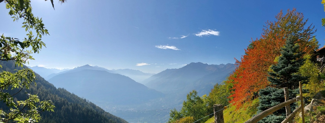 Wandern rund um Schenna in Südtirol