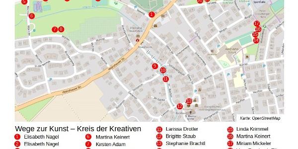 Plan der Kunststationen