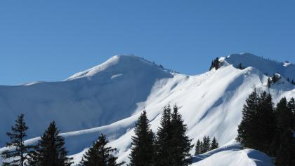 Riedberger Horn, 1786 m, mit (rechts) Nordgipfel, 1754 m