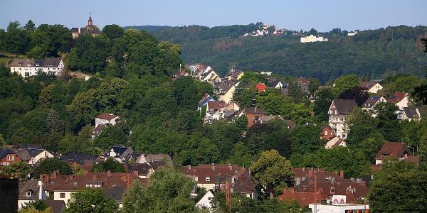 Blick auf das Obere Schloß in Siegen