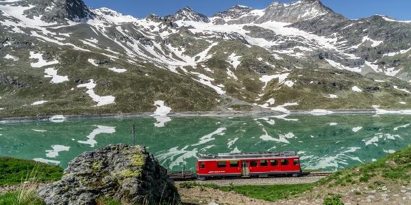 Bernina Bahn at Lago Bianco