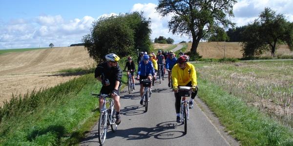 Radfahrer im Odenwald