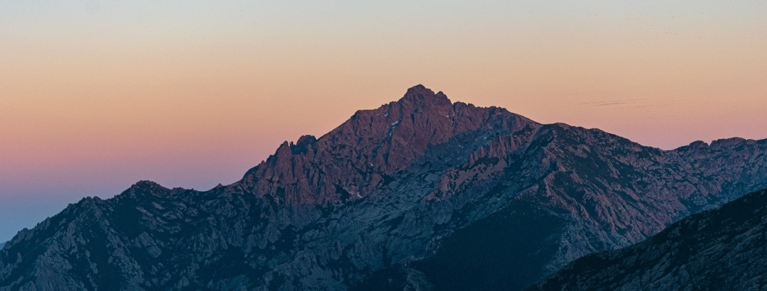 Bergpanorama des Monte d'Oru auf Korsika